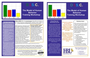 Find our more About our DISC Model of Human Behavior Training.